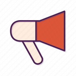 advertising, megaphone icon
