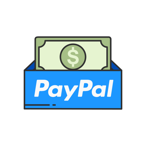 cash, dollar bill, online payment, paypal icon