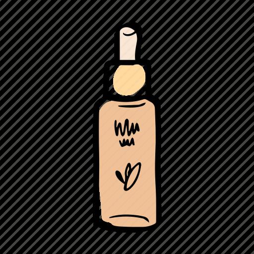 Makeup And Skin Care: Beauty, Bottle, Foundation, Illustration, Makeup, Skin