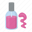 bottle, cosmetics, makeup, nail, nails, polish icon