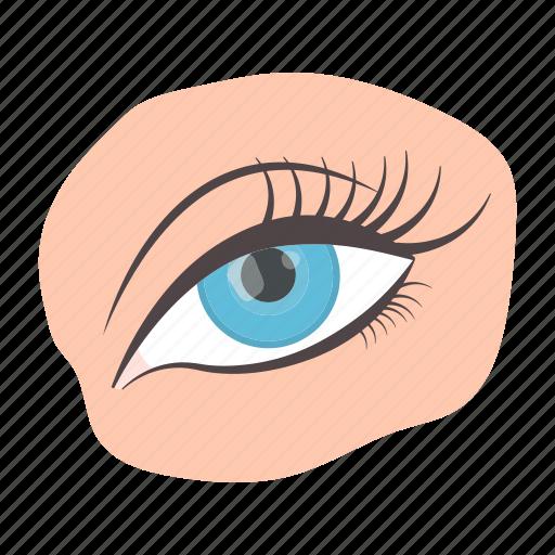 Eye, eyebrow, eyelashes, face, makeup icon - Download on Iconfinder
