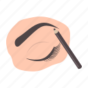 eye, eyebrow, eyeliner, makeup, mascara, pencil