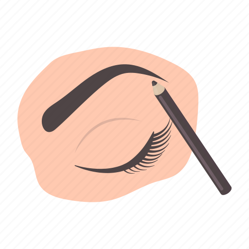 eye, eyebrow, eyeliner, makeup, mascara, pencil icon