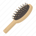 beauty, brush, comb, equipment, hair, hairdresser, tool icon
