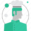 cooking, chef, culinary, chief, cook, male, kitchen icon