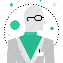 lab, labor, nerd, professor, scientist, staff, tester icon