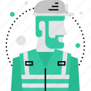 builder, building, construction, foreman, male, man, worker icon