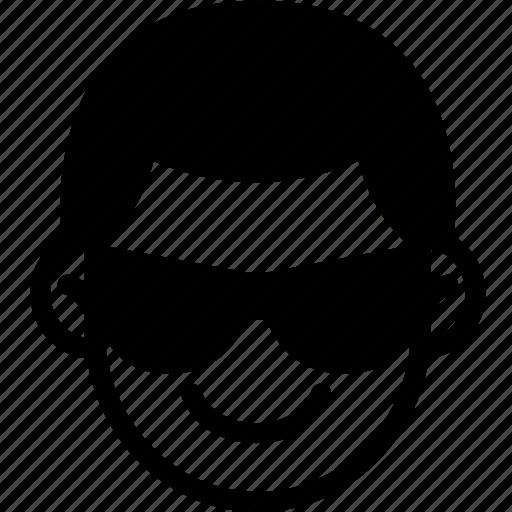 cool, emoji, emotion, expression, face, feeling icon
