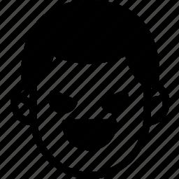 emoji, emotion, evil, expression, face, feeling icon