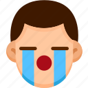 cry, emoji, emotion, expression, face, feeling icon