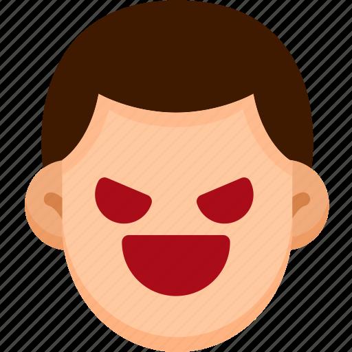 Emoji, emotion, evil, expression, face, feeling icon - Download on Iconfinder