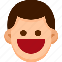 emoji, emotion, expression, face, feeling, happy icon