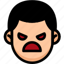 angry, emoji, emotion, expression, face, feeling
