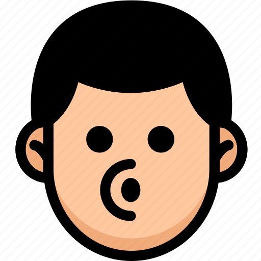 Blowing, emoji, emotion, expression, face, feeling icon - Download on Iconfinder