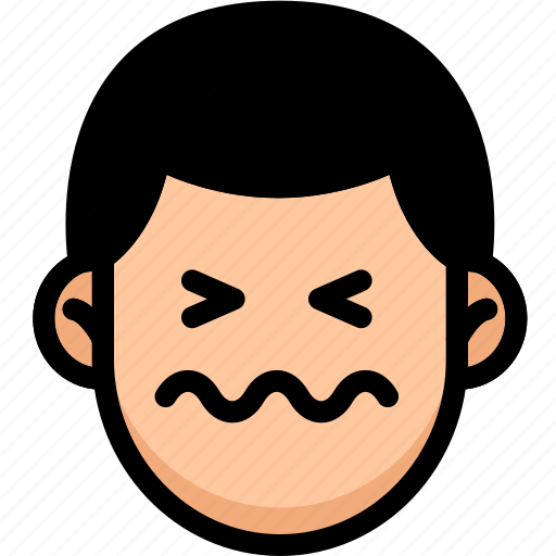confounded, emoji, emotion, expression, face, feeling icon