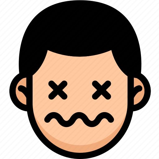 Dead, emoji, emotion, expression, face, feeling icon - Download on Iconfinder