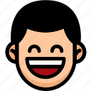 emoji, emotion, expression, face, feeling, laughing icon