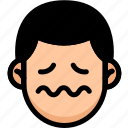emoji, emotion, expression, face, feeling, nervous icon