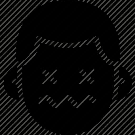 dead, emoji, emotion, expression, face, feeling icon