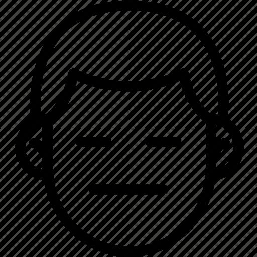 emoji, emotion, expression, face, feeling, neutral icon