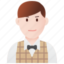 american, formal, gentleman, male, tuxedo icon
