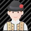 costume, ethnic, folk, romania, romanian icon