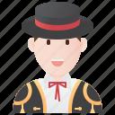 costume, matador, spain, spanish, traditional icon