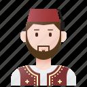 algeria, algerian, costume, man, traditional