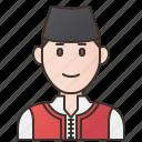 bulgaria, costume, grab, man, national icon