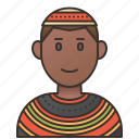african, cameroon, custom, garment, tribal icon