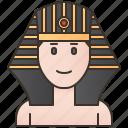 ancient, egypt, golden, headwear, pharaoh icon