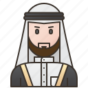 caftan, clothes, iraq, man, traditional icon