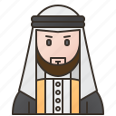 arab, arabian, emirates, man, muslim icon
