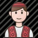afghan, afghanistan, man, muslim, traditional icon