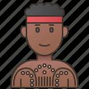 aborigine, australia, australian, ethnic, people icon