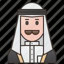 arab, kuwait, kuwaiti, man, muslim icon