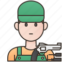 specialist, technician, gunman, gunsmith, expert icon