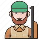gunman, hobby, hunter, shooter, sniper icon