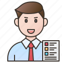 businessman, employee, manager, office, salesman icon