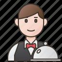 job, restaurant, service, serving, waiter icon