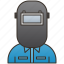 labor, mechanic, technician, welder, worker icon