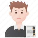 blogger, copywriter, male, professional, writer icon