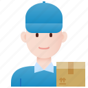 delivery, driver, mailman, postman, service icon