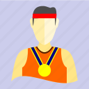 athlete, atlet, fitness, gym, olympic, sport, training icon