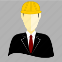 architect, avatar, builder, construction, engineer, equipment, user icon