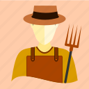 agricultural, corn, cultivator, farmer, gardener, rice, wheat icon