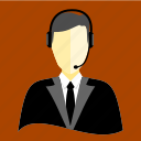 announcer, broadcaster, help, hotel, information, receptionist, service icon
