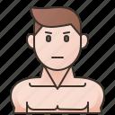athletic, bodybuilder, bodybuilding, men, muscle icon