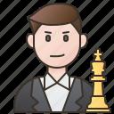 board, boy, chess, game, player