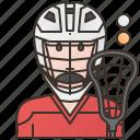 lacrosse, men, player, sport, uniform